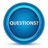 Questions? Eyeball Blue Round Button. Questions? Isolated on Eyeball Blue Round Button stock illustration