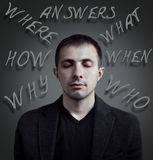 Questions in life Royalty Free Stock Photo