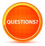 Questions? Natural Orange Round Button vector illustration