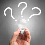 Questions and new ideas Stock Photography