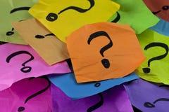 Questions ou concept de prise de décision Photo stock