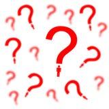 Questions personnelles illustration stock