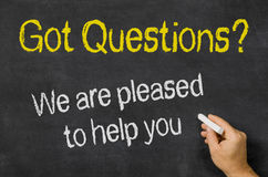 Questions - We are pleased to help you Royalty Free Stock Photo