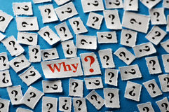 Questions pourquoi Images stock