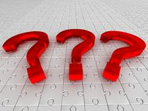 Questions. puzzle Royalty Free Stock Photos