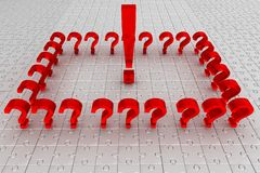 Questions. puzzle. Idea royalty free stock photo