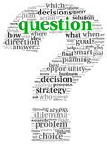 Questions in question mark. Questions concept in question mark of word tag cloud Royalty Free Stock Image
