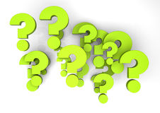 Questions. Render of a group of questions Stock Illustration