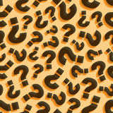 Questions. Seamless pattern. Vector illustration Stock Photos