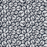 Questions. Seamless pattern. Vector illustration Royalty Free Stock Images