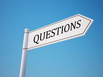 Questions Signpost Royalty Free Stock Image