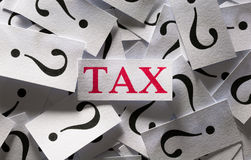 Questions about the Tax Stock Photo