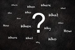 Questions on a textured background. Common questions on a textured background Royalty Free Stock Images