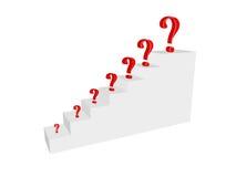 questions trappa Arkivfoto