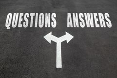 Questions vs answers choice concept Stock Photos