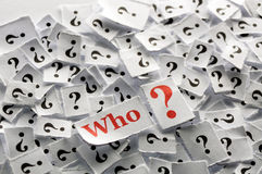 Questions who Royalty Free Stock Images