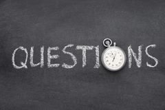 Questions word watch royalty free stock photos
