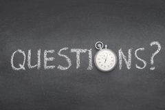 Questions ask watch royalty free stock photography