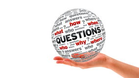 Questions word Sphere stock footage