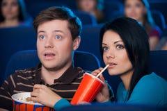 Questo film è così emozionante! Fotografia Stock