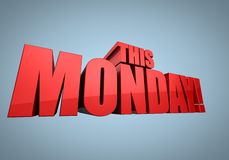 Questo lunedì Fotografie Stock