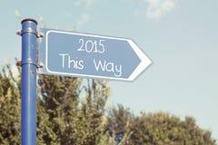 2015 questo modo Fotografie Stock