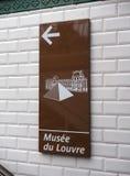 Questo modo al Louvre Immagini Stock Libere da Diritti