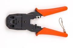 Quetschwerkzeug getrennt auf weißem Hintergrund Lizenzfreies Stockfoto