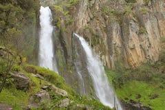 Quetzalapan cascade I. N zacatlan, mexican state of puebla Royalty Free Stock Photography
