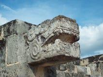 Quetzalcoatl al ¡ di Chichén Itzà Fotografia Stock Libera da Diritti