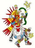 Quetzalcoatl Mayan beeld Stock Fotografie