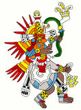 Quetzalcoatl Mayan image. On a white background Stock Photography