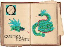 Quetzalcoatl Royalty Free Stock Images