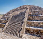 Quetzalcoatl Pyramid Temple at Teotihuacan Ruins - Mexico City, Mexico Royalty Free Stock Photo