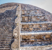 Quetzalcoatl Pyramid Temple at Teotihuacan Ruins - Mexico City, Mexico Royalty Free Stock Photography