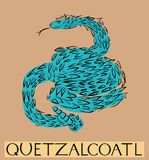 Quetzalcoatl with title Royalty Free Stock Photos