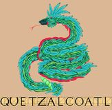 Quetzalcoatl with title Stock Images