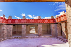 Quetzalpapalol Palace Ruins Teotihuacan Mexico City Mexico. Quetzalpapalol Palace Quetzal-Mariposa, Quetzal -Butterfly Palace, Ancient Paintings Murals Ruins royalty free stock photography