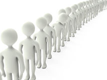 Queue. Character stands in queue isolated on a white background Stock Photo