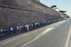 Queue area at the Vatican Museum Royalty Free Stock Photos