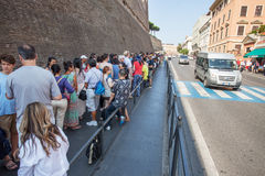 Queue area at the Vatican Museum Stock Photography