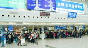 queue for boarding Stock Photos