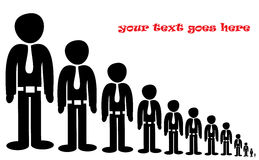 Queue of business people Royalty Free Stock Image