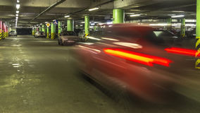 Queue of  cars at entrance of shopping mall parking Royalty Free Stock Photos