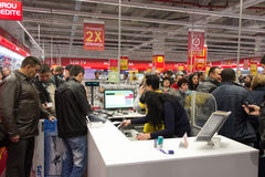 Queue at the cash register Royalty Free Stock Photos