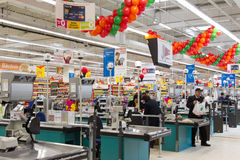 Queue at the cash register Royalty Free Stock Image