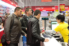 Queue at the cash register Stock Photography