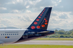 Queue de Brussels Airlines Airbus A319 Image stock