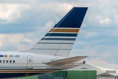 Queue de Jet2 (style de privilège) Boeing 757 Images stock