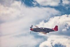 Queue de rouge du mustang P-51 Photographie stock libre de droits